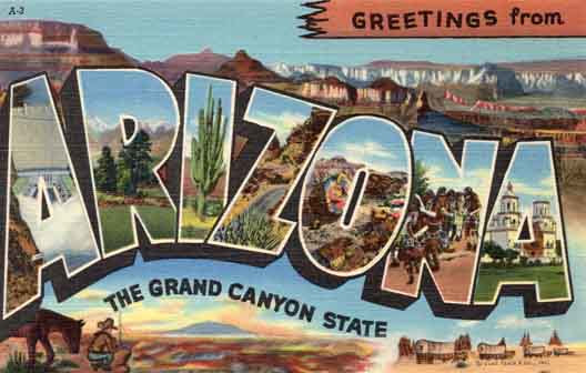 Arizona large letter postcard checklist