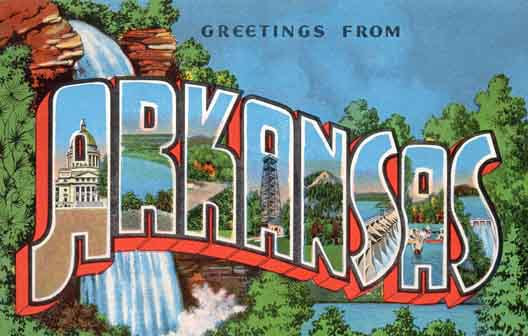 Arkansas large letter postcard checklist