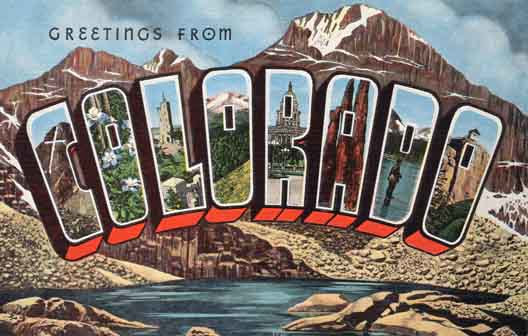 Colorado large letter postcard checklist