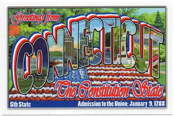 Connecticut large letter postcard 5th state