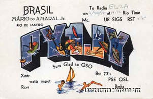 PY1JY QSL radio large letter card