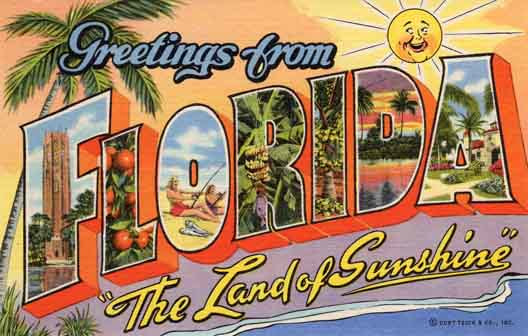 Florida large letter postcard checklist