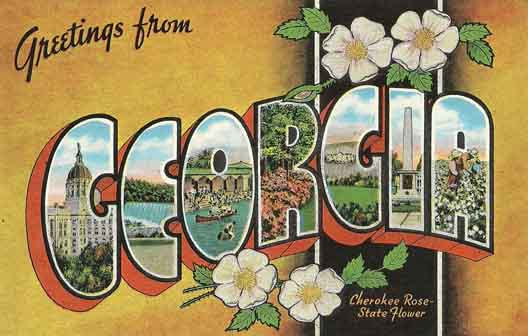 Georgia large letter postcard checklist