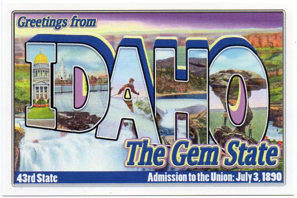 Idaho large letter postcard 43rd state