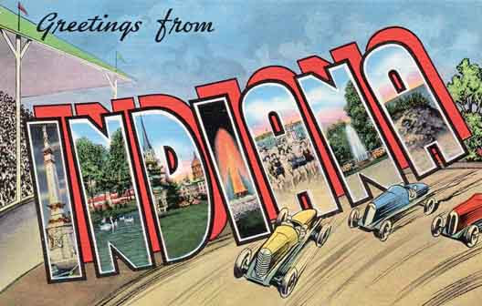 Indiana large letter postcard checklist