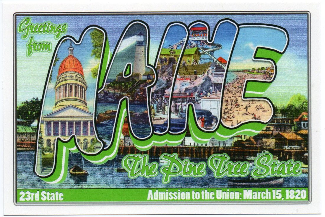 Maine large letter postcard 23rd state
