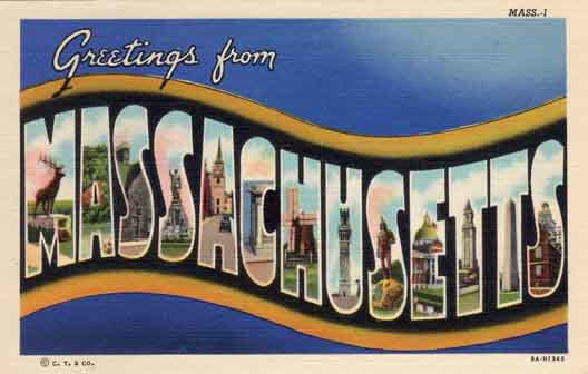 Massachusetts large letter postcard checklist