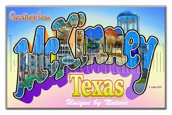 Greetings from McKinney, Texas large letter postcard