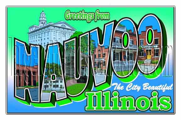 Greetings from Nauvoo, Illinois large letter postcard