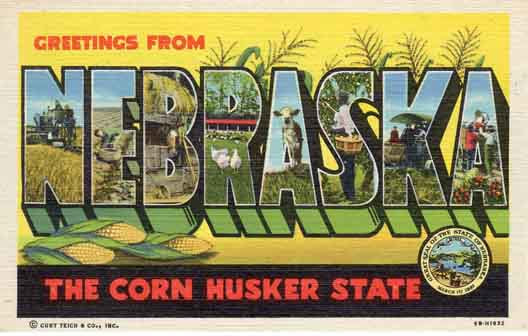 Nebraska large letter postcard checklist