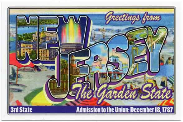 New Jersey large letter postcard 3rd state