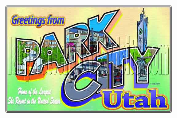 Greetings from Park City, Utah large letter postcard