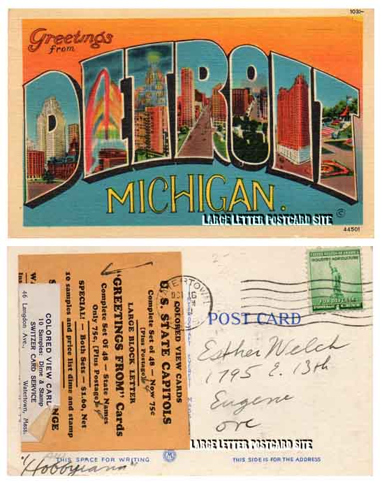 Switzer large letter postcard